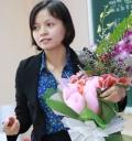 Cô giáo Đào Thị Ngọc Ánh - môn GDCD - trong Hội thi GVG